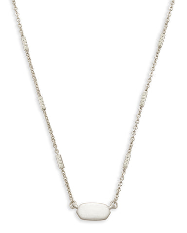 Kendra Scott: Fern Necklace Bright Silver