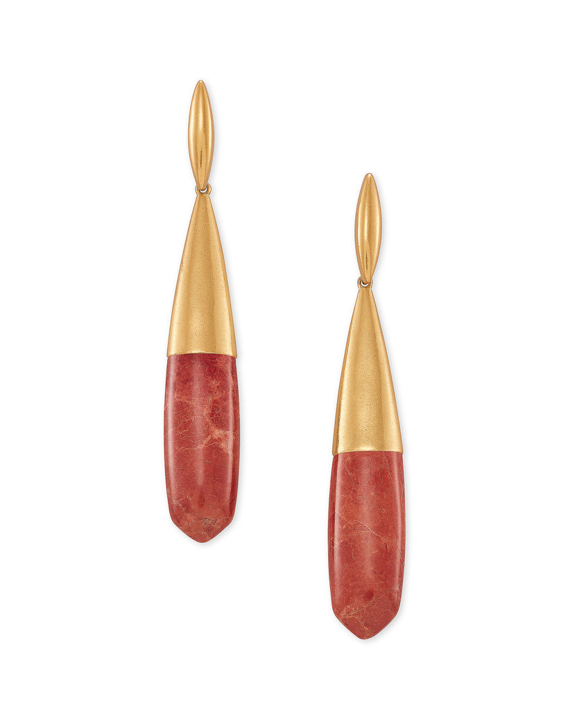 Kendra Scott: Freida Linear Vintage Gold/Burnt Sienna