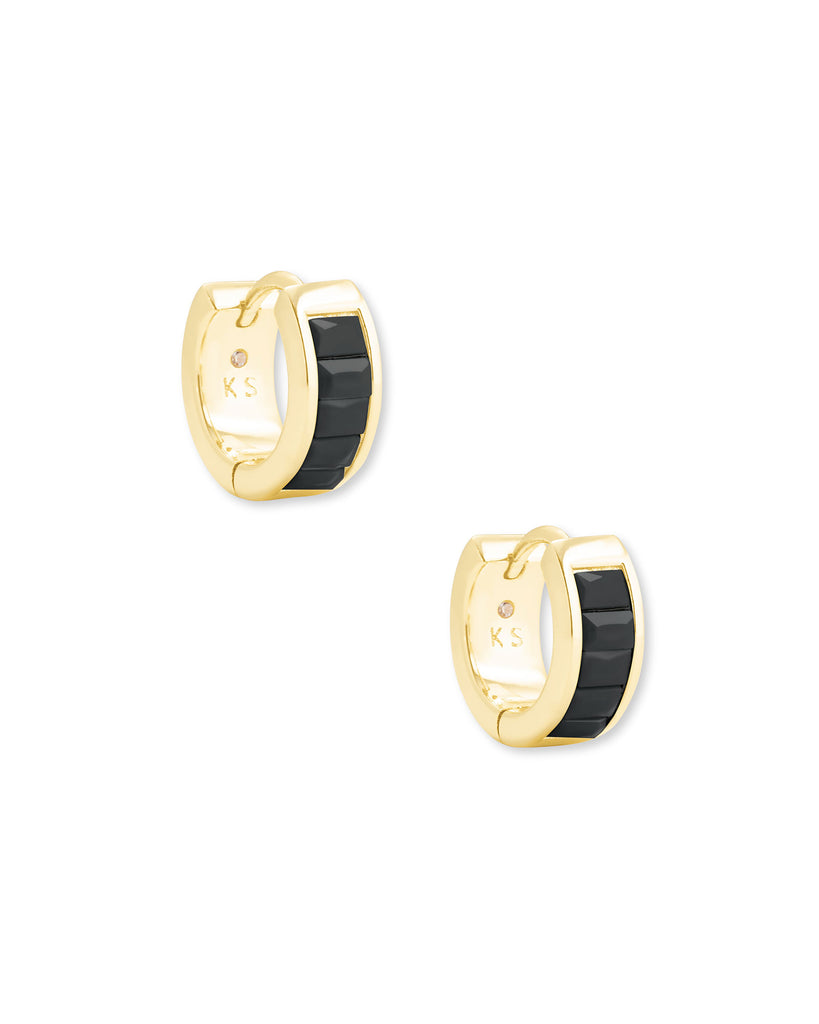 Kendra Scott: Jack Huggie Gold / Black Spinel