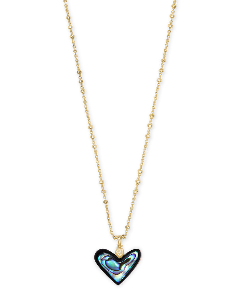 Kendra Scott: Poppy Heart Pendant Gold/Abalone