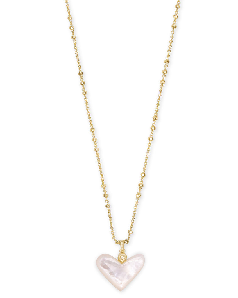 Kendra Scott: Poppy Heart Pendant Gold/Ivory Mother of Pearl