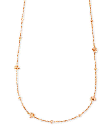 Kendra Scott: Presleigh Short Strand Necklace Rosegold