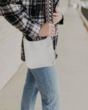 Petite White Ahdorned Messenger Bag