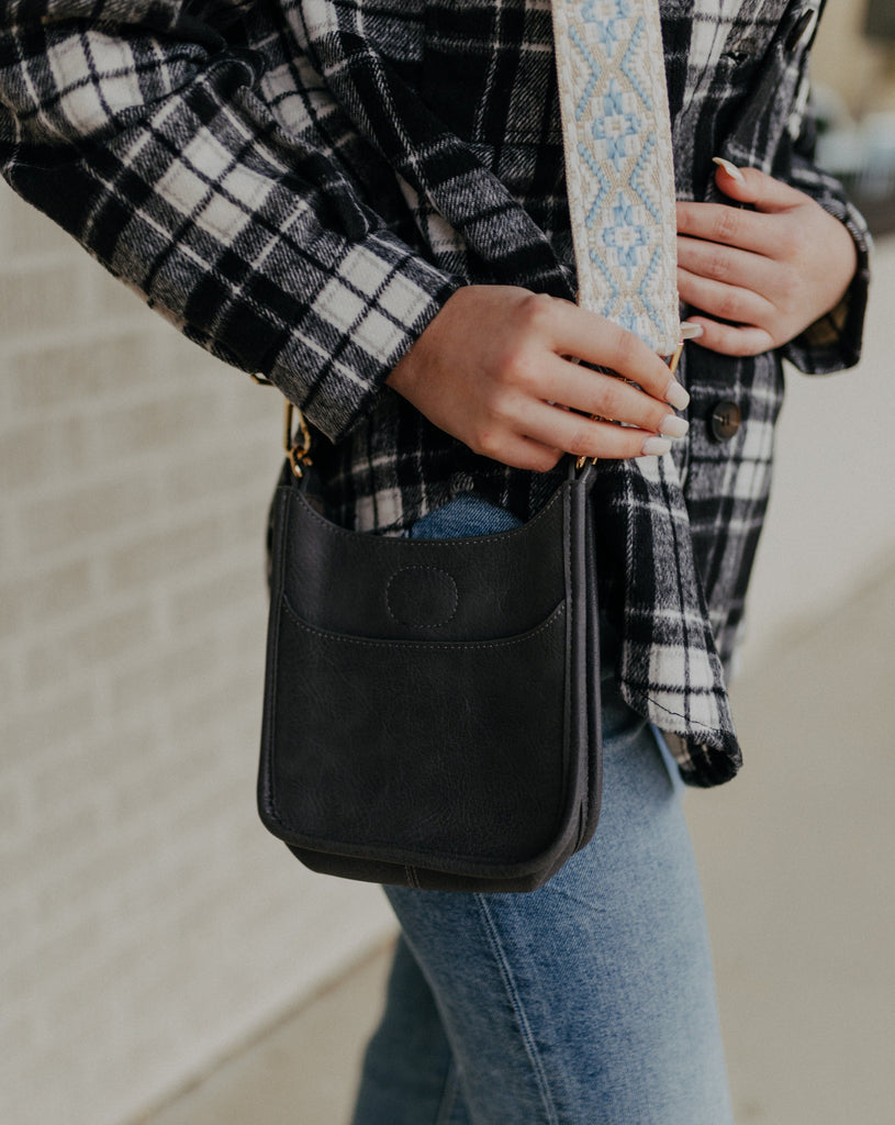 Petite Grey Ahdorned Messenger Bag