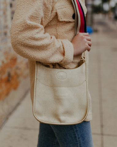 Gold Mini Ahdorned Messenger Bag