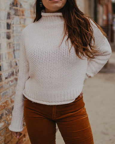 Cream Knit Turtleneck