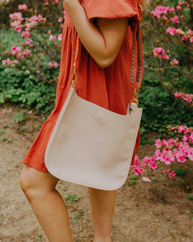 Blush Classic Ahdorned Messenger Bag