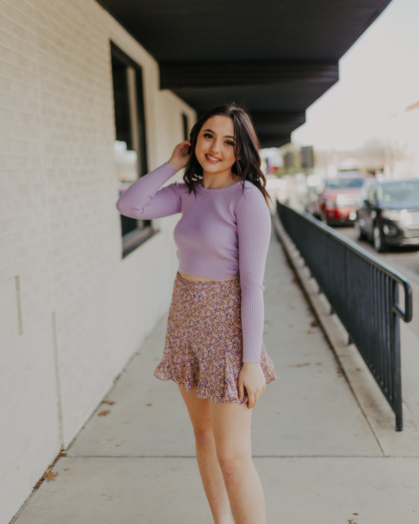 Flared Skort in Lavender