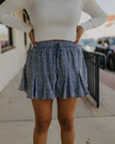 Flare Shorts in Misty Blue