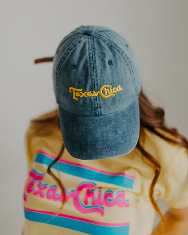 Texas Chica Hat in Navy