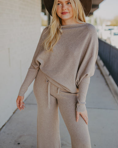 Ribbed Sweater in Oatmeal