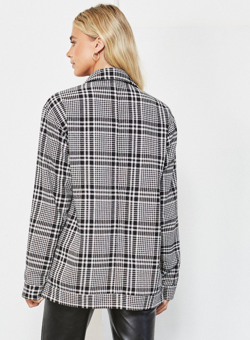 Chester Shacket Black And White Check