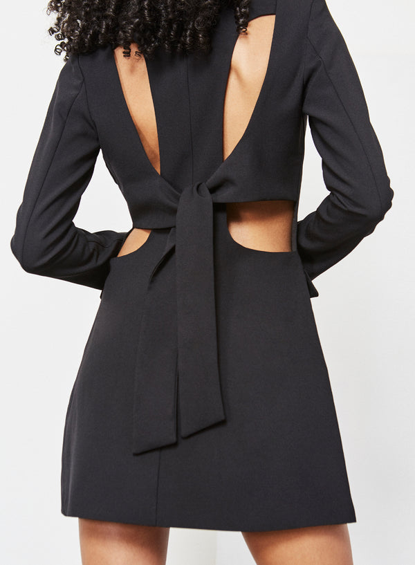 Hurley Tie Back Blazer Dress Black
