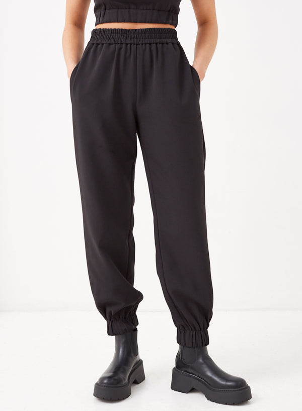 Aiden Tailored Jogger Black
