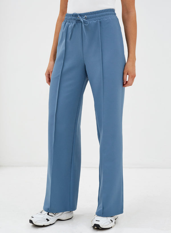 Beckett Tie String Pants Dusty Blue