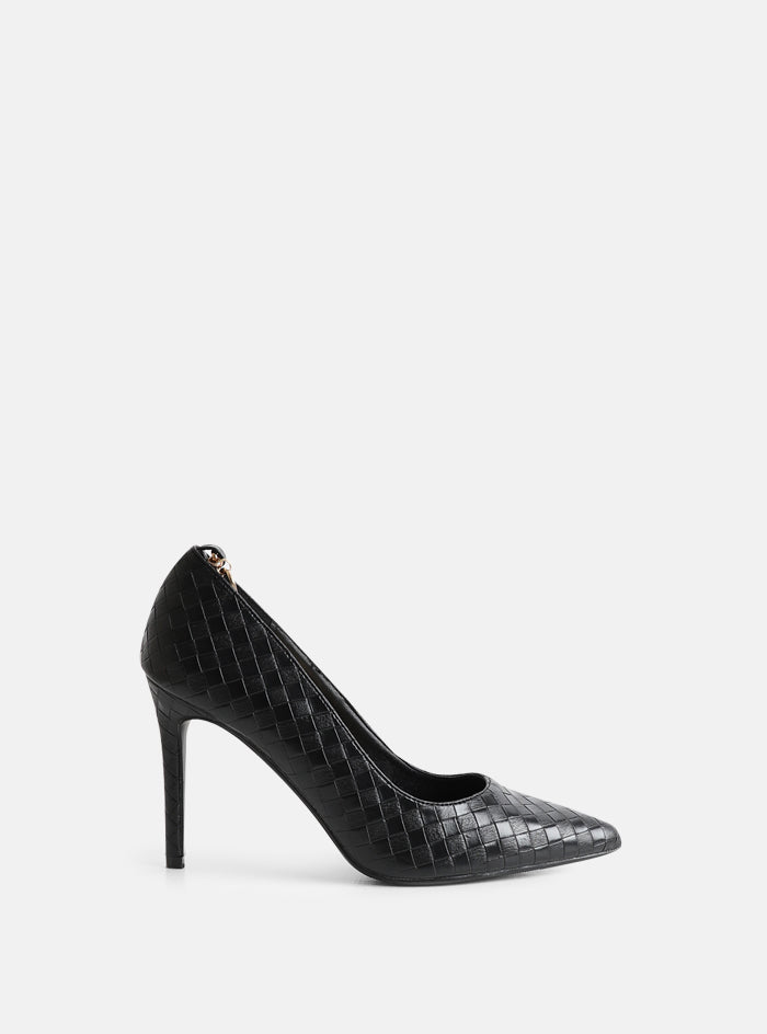 Bowden Chain Court Shoe Black