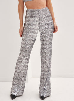 Chelsea Pants  Silver Sequin