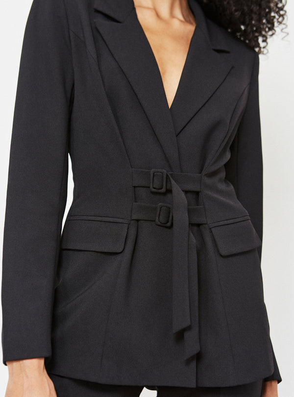 Clarke Belt Detail Blazer Black