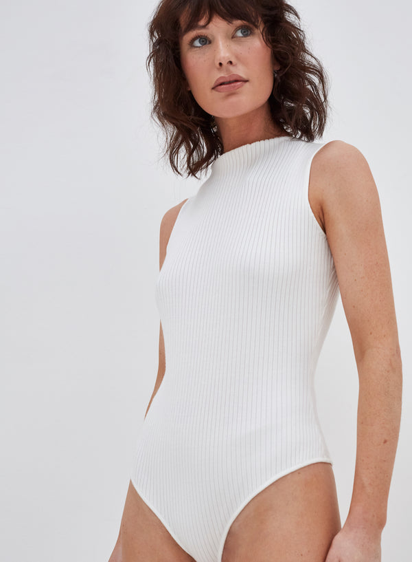 Coville Knitted Bodysuit White