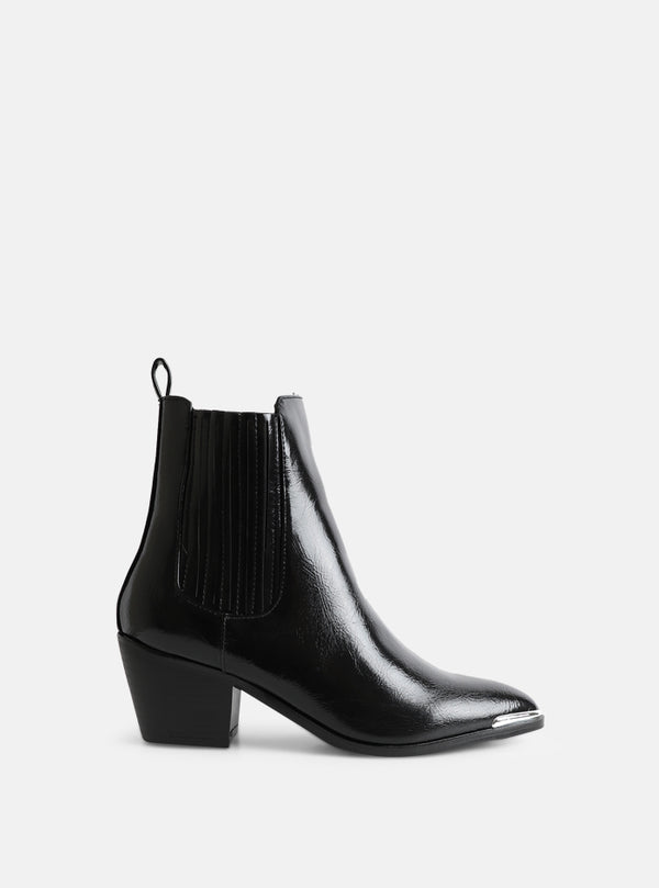 Darcy Western Ankle Boot Black
