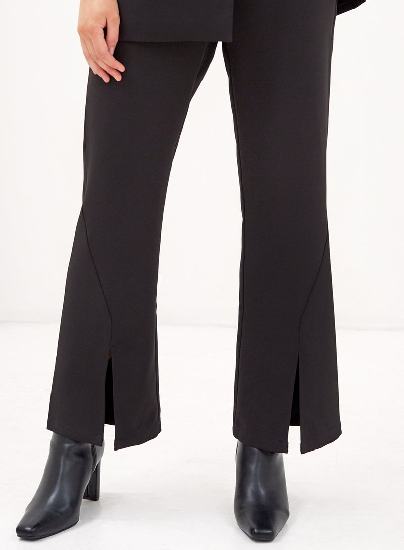 Duke Split Front Pants Black