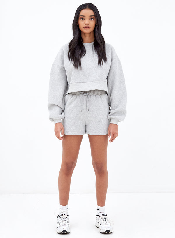Eden Crop Sweatshirt Grey