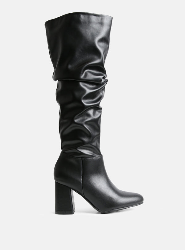 Hadley Knee High Slouchy Boot Black