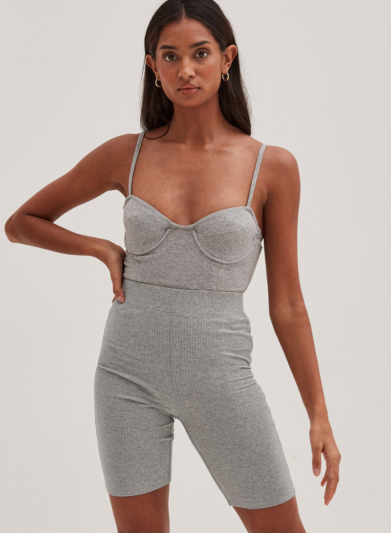 Hallie Bodysuit Grey