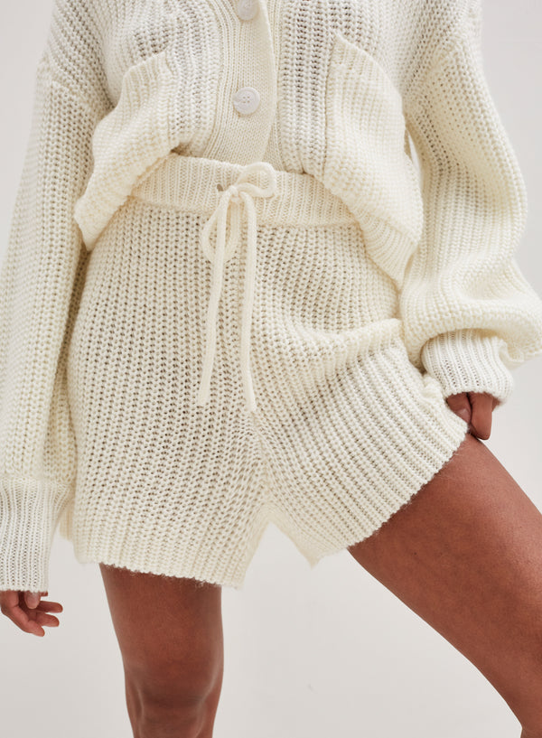 Henry Chunky Knitted Short Cream