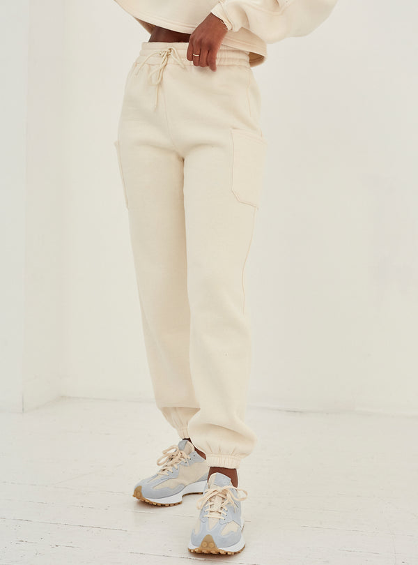 Irene Pocket Detail Jogger Cream
