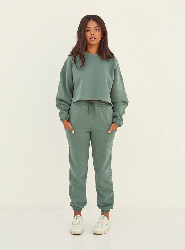 Irene Crop Sweatshirt Green