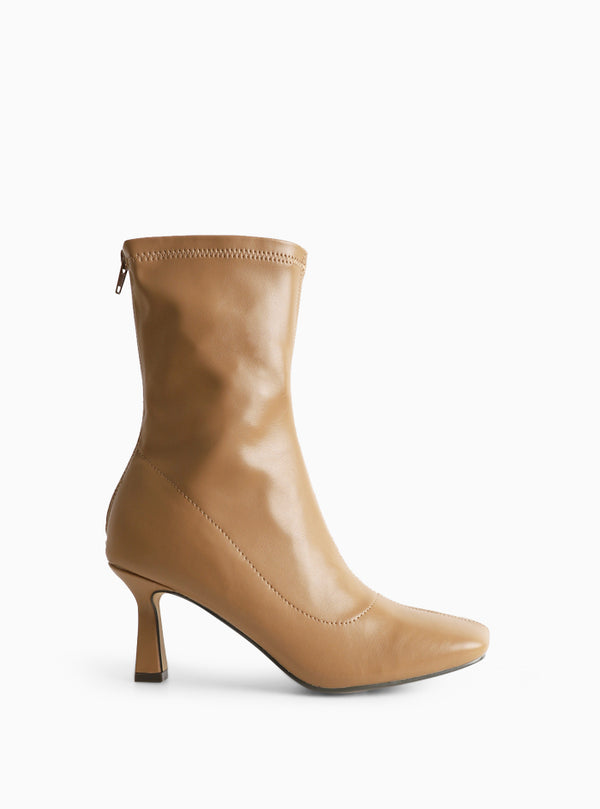 Jaya Square Toe Ankle Boot Nude