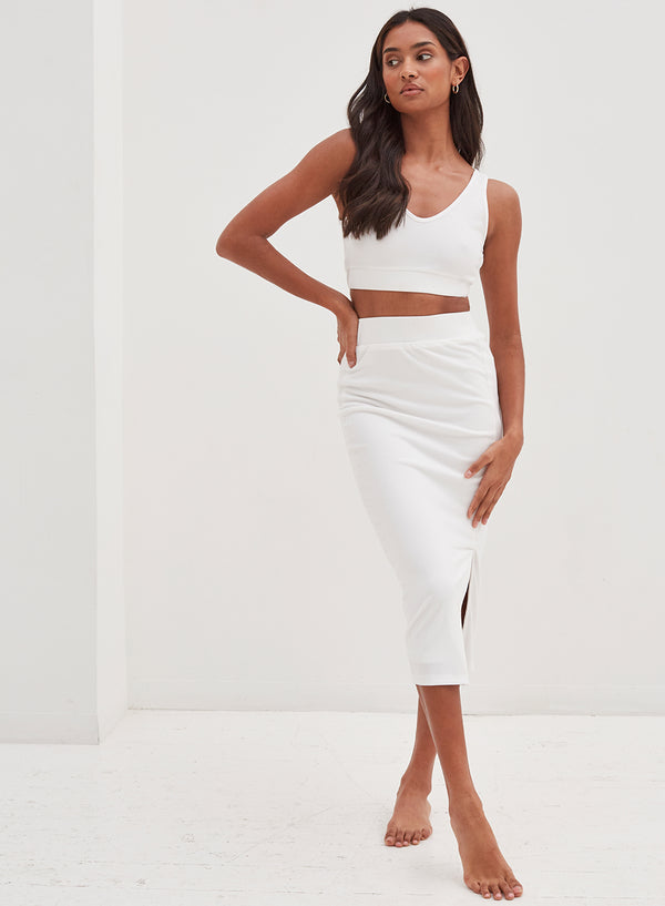 Koda Skirt White