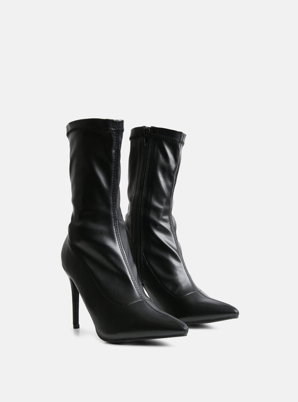 Luther Stiletto Heel Ankle Boot Black