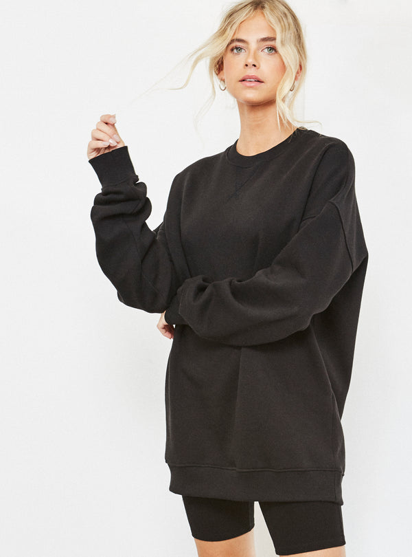 Natalia Oversized Sweatshirt Black