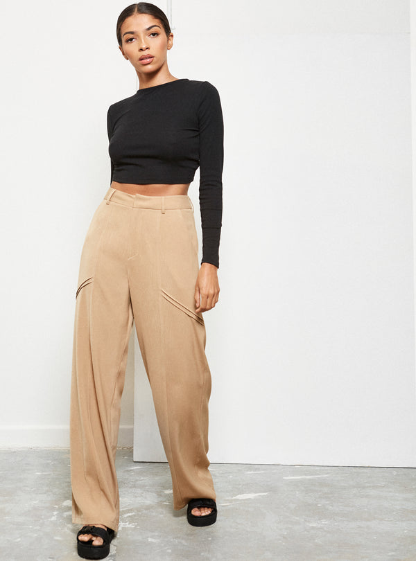 Willow Wide Leg Pants Camel