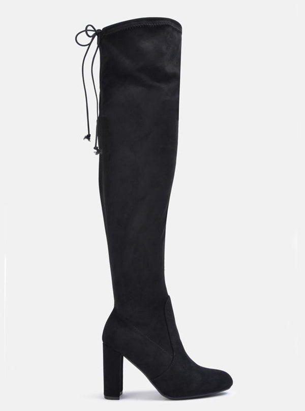 Sophia Over The Knee Long Boot Black