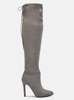 Molly Over The Knee Stiletto Long Boot Grey