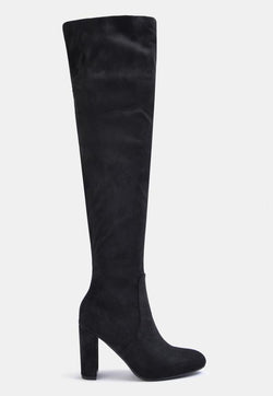 Albie Over The Knee Long Boot Black | 4th & Reckless