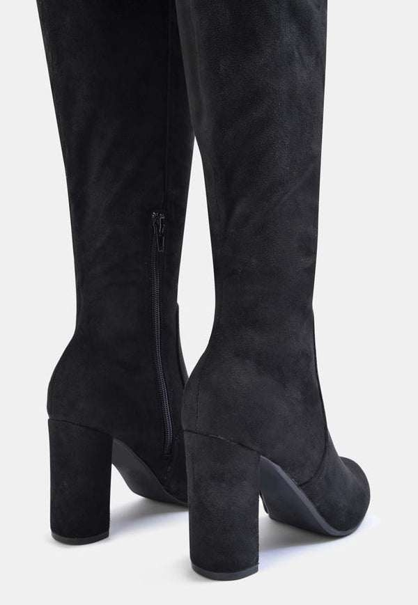 Albie Over The Knee Long Boot Black
