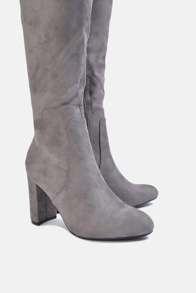 Albie Over The Knee Long Boot Grey