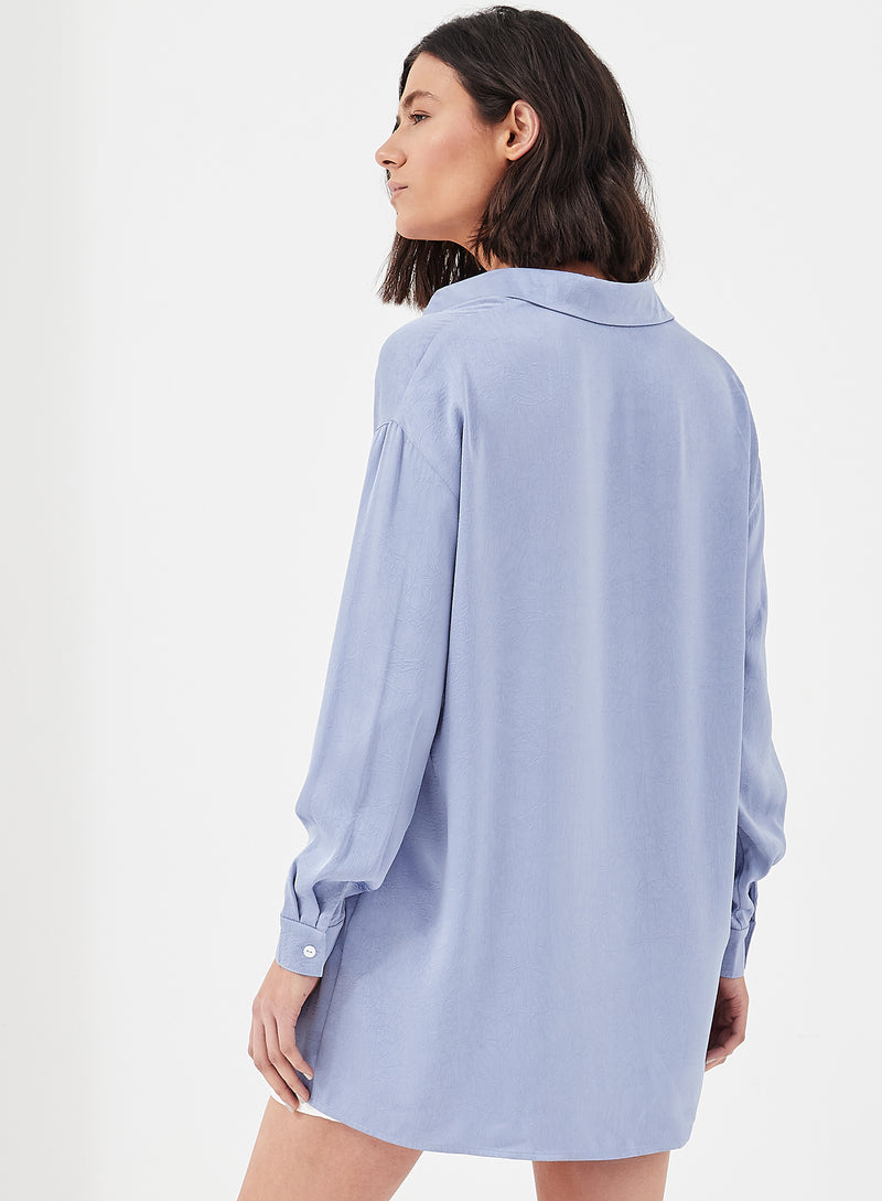 Asher Oversized Shirt Blue