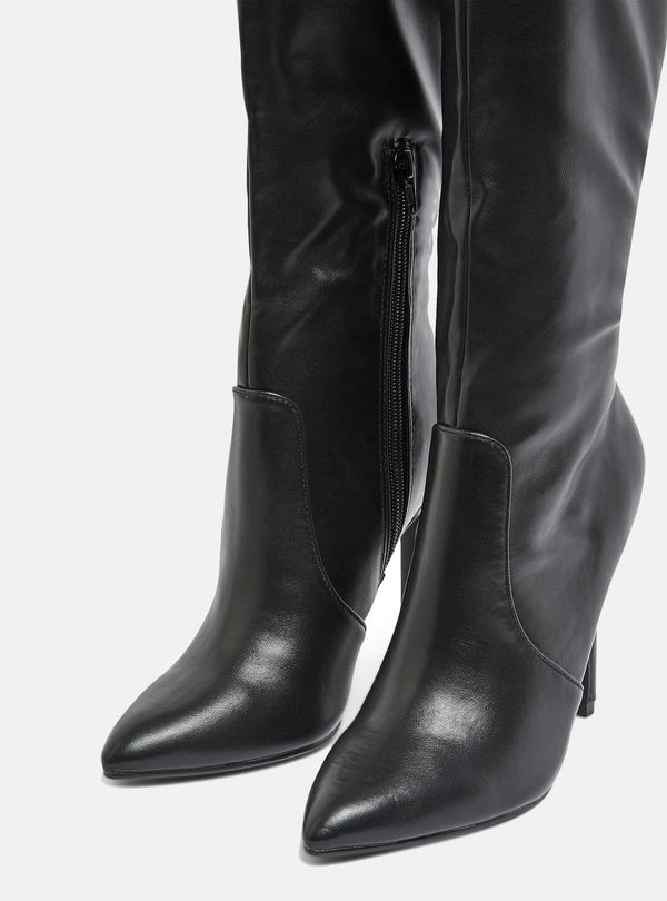 Blanco Knee High Stiletto Boot Black