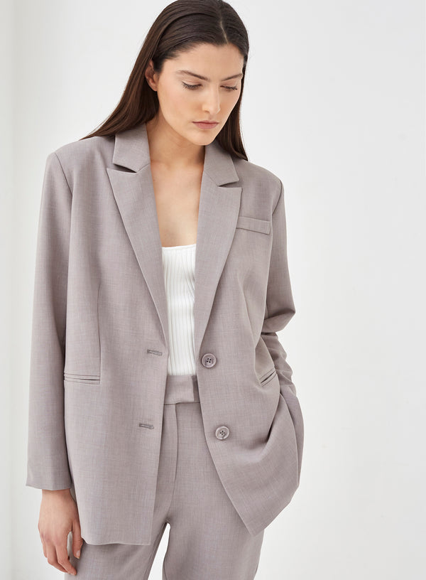 Bristol Relaxed Blazer Grey