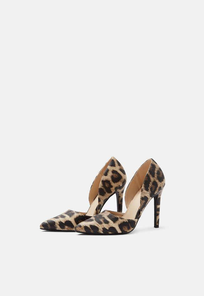 Camilla Open Side Court Shoe Leopard Pu