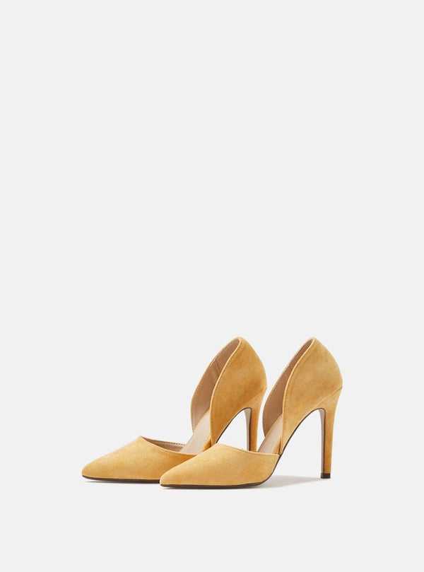 Camilla Open Side Court Shoe Yellow Suede