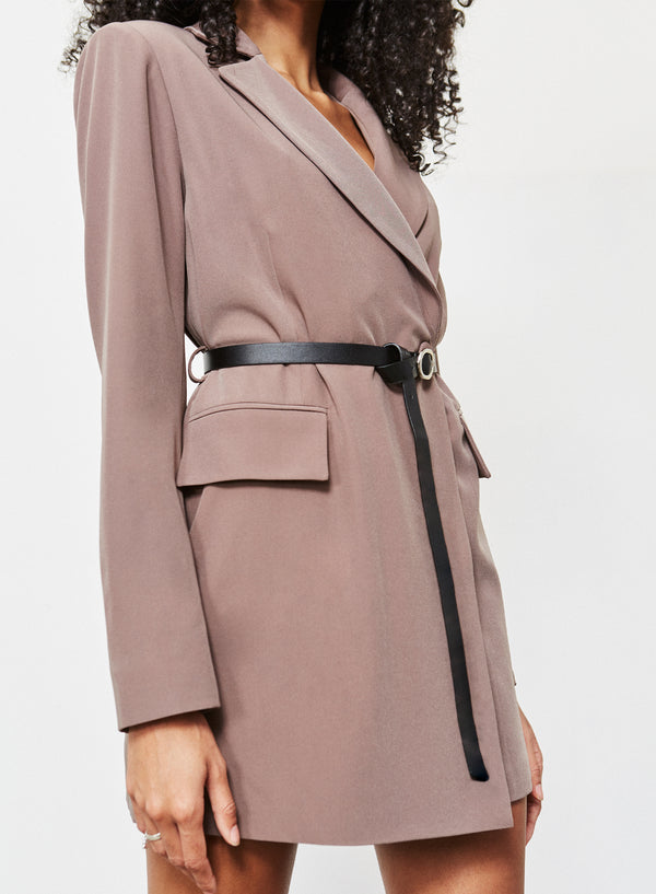 Cannon Belted Blazer Dress Mole