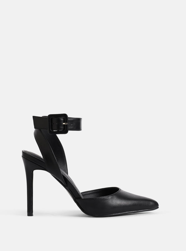 Harmony Ankle Strap Court Shoe Black
