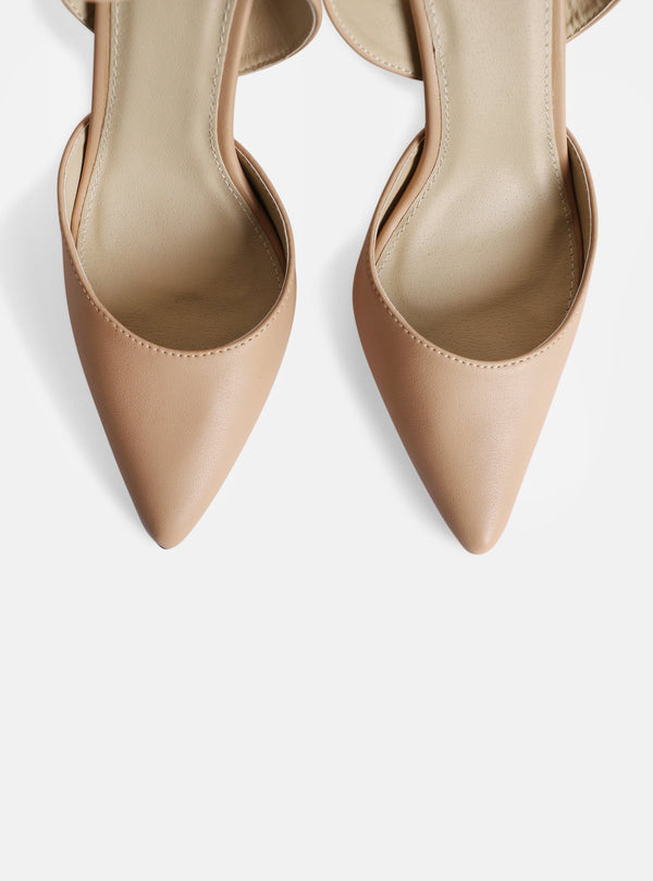 Harmony Ankle Strap Court Shoe Nude