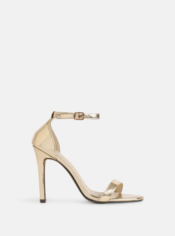 Jasmine Basic Heeled Sandal Gold